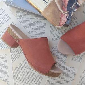 DANSKO Maci Nubuck Leather Mule Slide Sandals 39